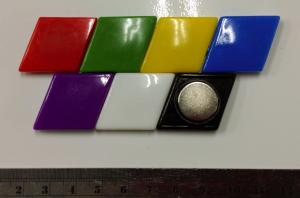 Rhombic Glass Whiteboard Magnet Can Hold 6 Sheets Of Paper